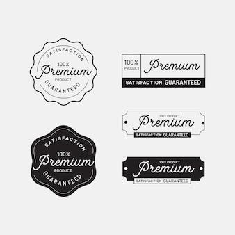프리미엄 품질의 제품 라벨 스탬프 개념