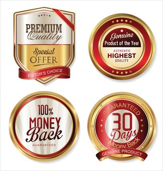 Premium quality retro labels collection