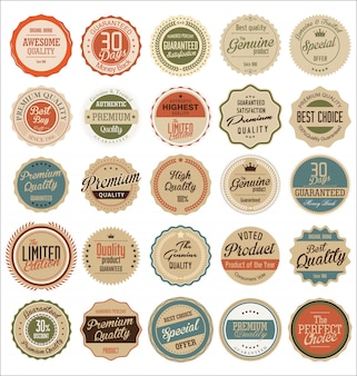 Premium, quality retro vintage labels collection