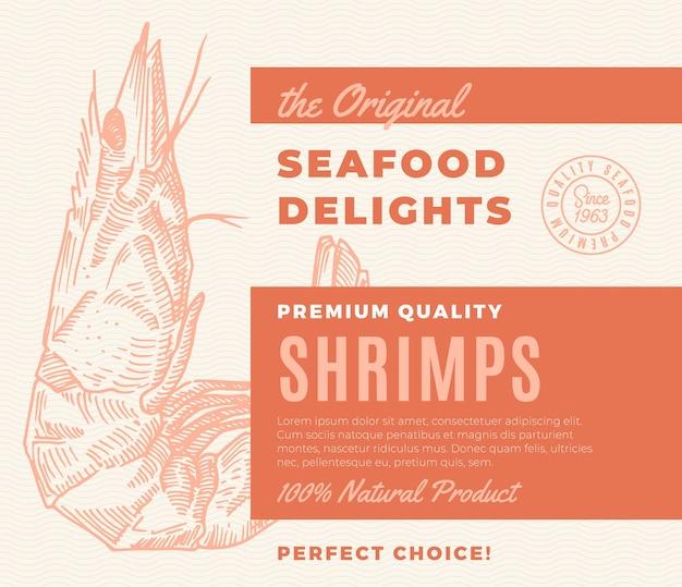 프리미엄 품질의 해산물 요리