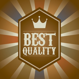 Premium quality over vintage background vector illustration