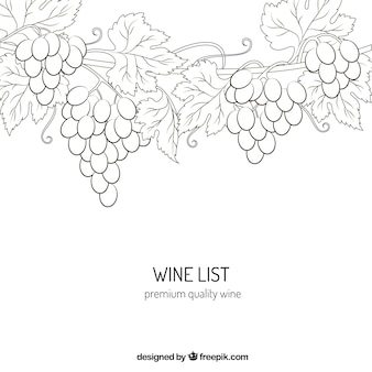 Premium quality wine drawing