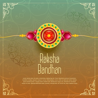 Premium raksha bandhan greeting background