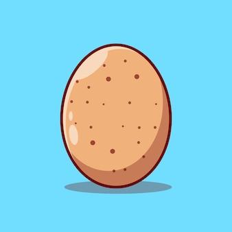 Премиум реалистичные куриные яйца векторные иллюстрации концепция дизайна