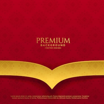 Premium red and golden background design