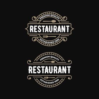 Premium restaurant vintage logo design