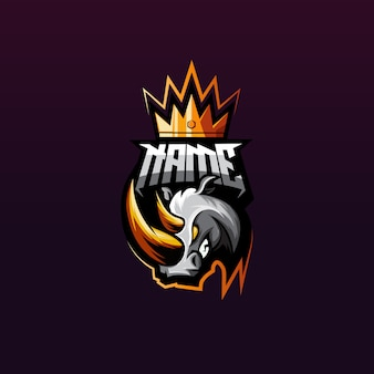Premium rhino gaming logo