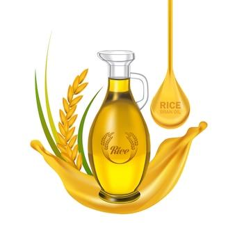 The premium rice bran oil.