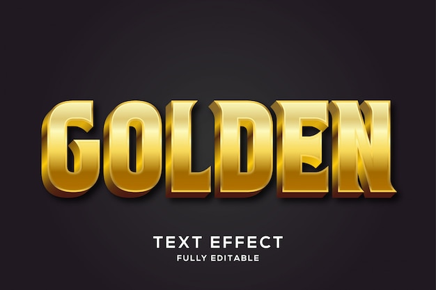 Premium royal gold text style effect