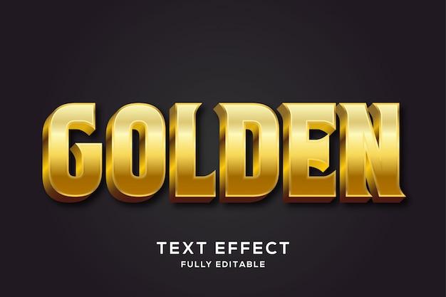 Премиальный королевский золотой текстовый эффект