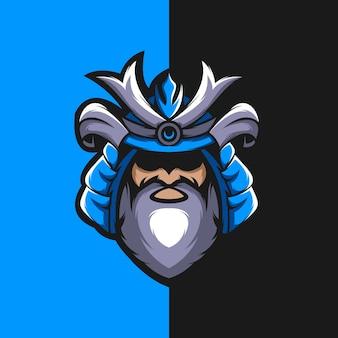 Premium samurai logo design