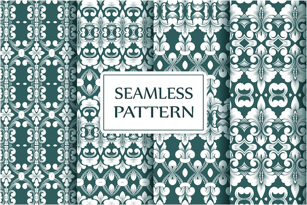Премиум коллекция бесшовных узоров для обоев текстильная упаковка изысканный цветочный шаблон в стиле барокко