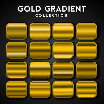 Premium set of gold gradient