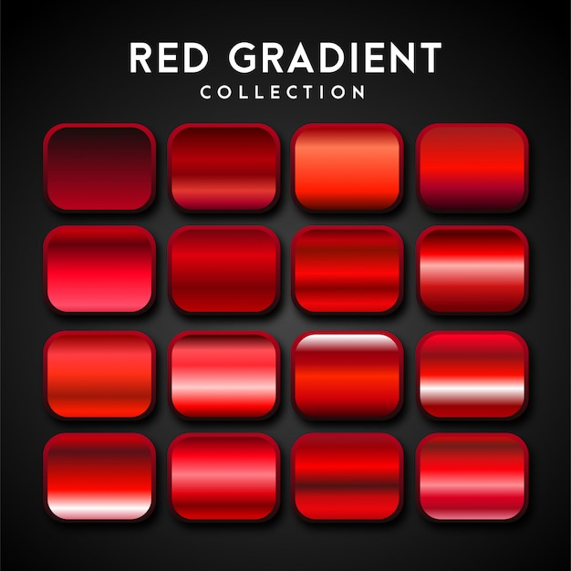 Premium set of red gradient