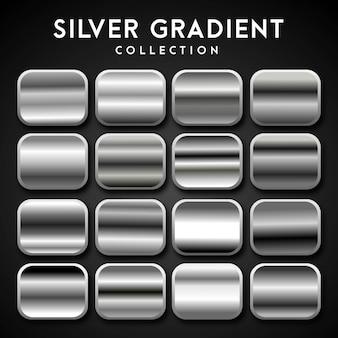 Premium set of silver gradient