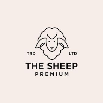 Премиум овца векторный логотип иллюстрации дизайн