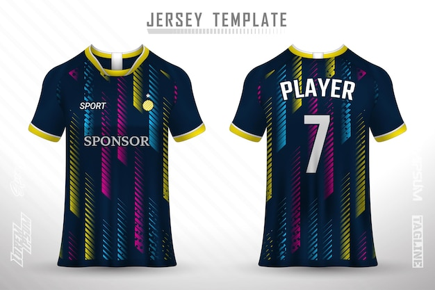 Premium soccer jersey template with abstract texture