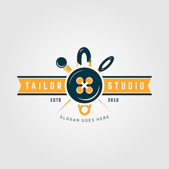Premium tailor studio logo template