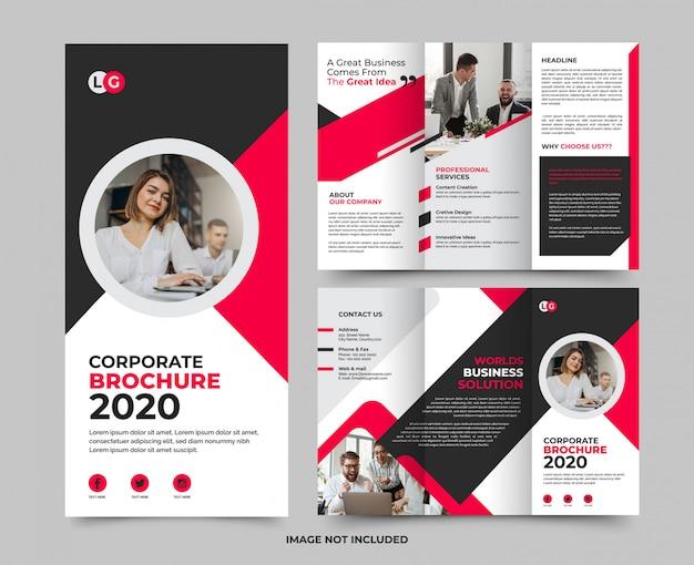 Корпоративный минималистский современный многофункциональный бизнес-брошюра premium tamplate