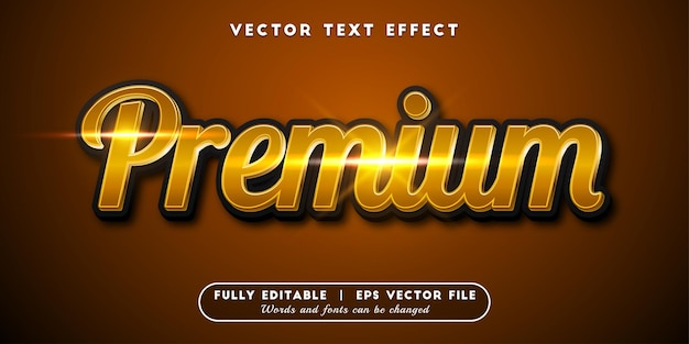 Premium text effect, editable text style