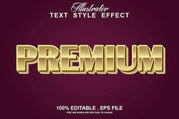 Редактируемый текстовый эффект премиум-класса
