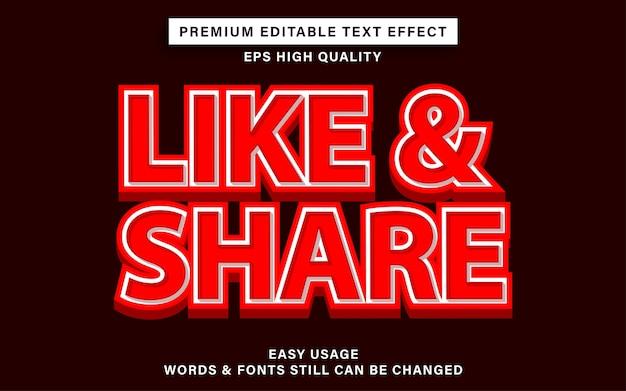 Премиум текстовый эффект, например, поделиться