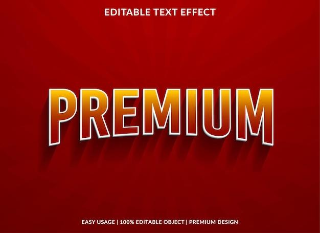 Premium text effect template premium style