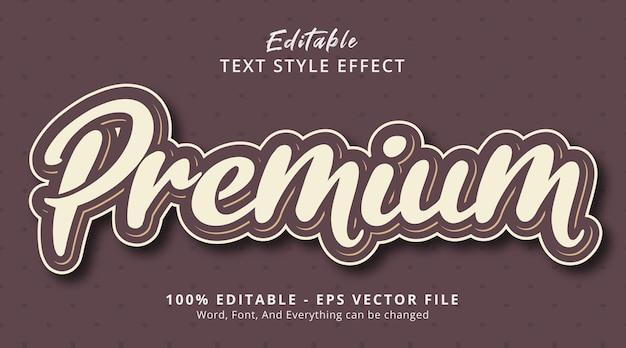 レトロなカラースタイル効果のプレミアムテキスト、編集可能なテキスト効果