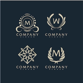 Premium vector elegant ornament logo