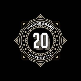 プレミアムヴィンテージブランドの本格的なロゴのテンプレート