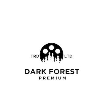 Premium wood tree forest film vector logo icon design