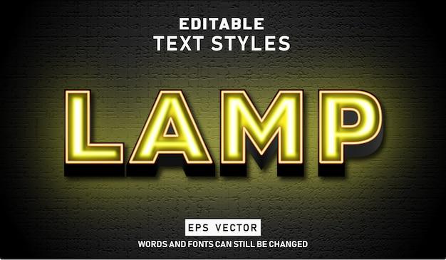 Лампа с эффектом редактируемого текста premium