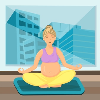 Prenatal breathing meditation