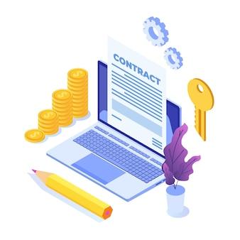 Preparation business contract concept.
