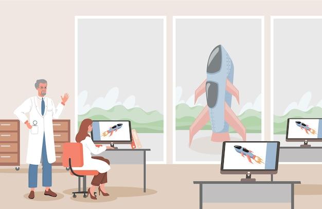 Подготовка к космической экспедиции иллюстрации