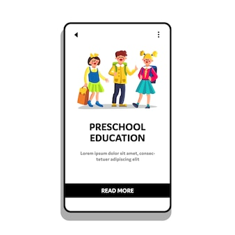 Preschool education and courses children