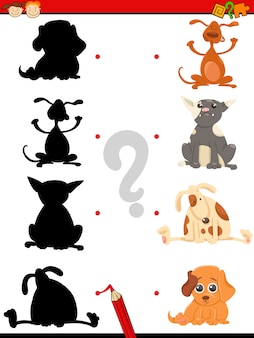 Preschool silhouette task with dogs