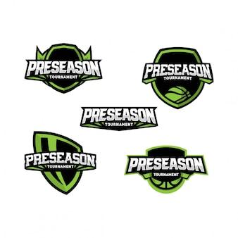 バスケットボールpreseasonロゴパック