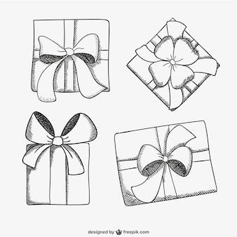 Настоящее коробка эскиз рисунки