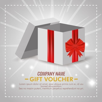 Present voucher with special sale discount