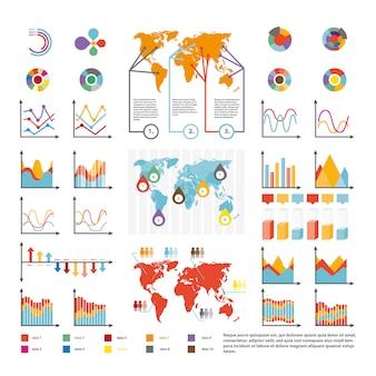 Presentatiのフラットなデザインスタイルのビジネスベクトル図