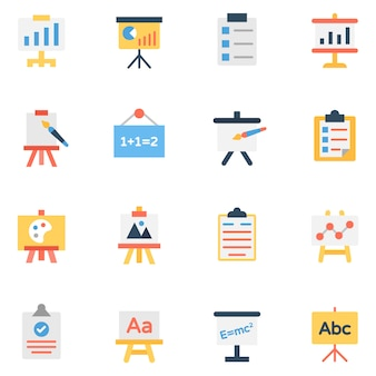 Presentation and boards icons pack