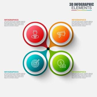Презентация бизнес-3d инфографика векторного дизайна
