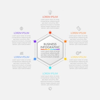 Presentation business circle infographic template