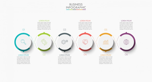 Presentation business infographic banner template