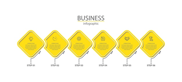 Presentation business infographic colorful template with steps