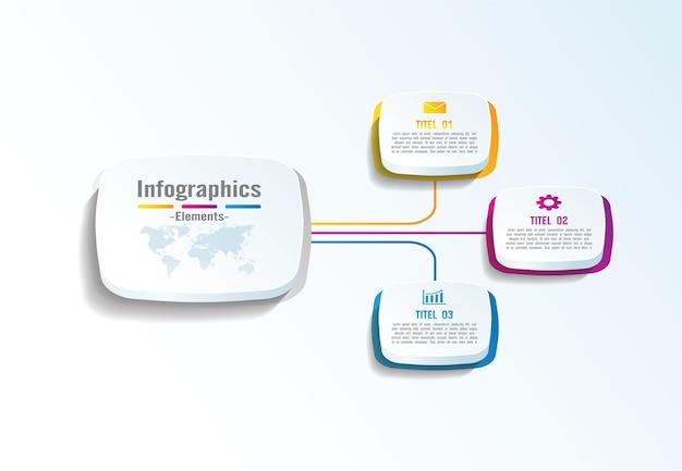 Презентация бизнес-инфографики с 3 шагами