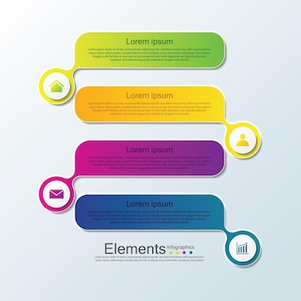 Презентация бизнес-инфографики с 4 шагами