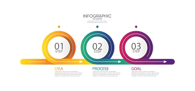 Presentation business infographic template circle with steps