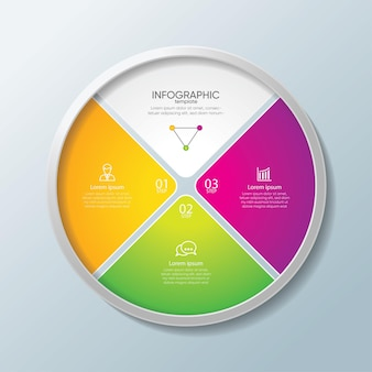 Presentation business infographic template colorful with steps